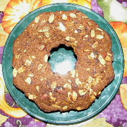 Coffee Cake Ring Chopped Almonds Top