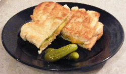 grilled cheese with pickles