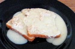 Chicken Gravy on Toast