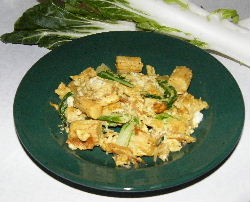 curried eggs with chinese vegetables
