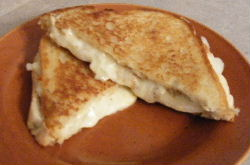 Grilled Cheese with onion & mustard